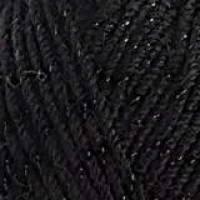 ALIZE Superlana Midi Lux 6060 Чёрный с чёрным люрексом